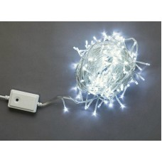 Светодиодная гирлянда LED-BW-200-20M-240V-W белая, прозрачный провод, 20м