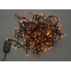 Светодиодная гирлянда LED-BW-200-10M-240V-Y желтая, черный провод, 10м