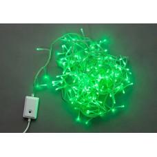 Светодиодная гирлянда LED-BW-200-10M-240V-G зеленая, прозрачный провод, 10м