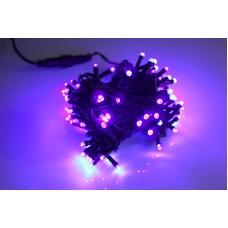 Светодиодная гирлянда LED-PL-100-10M-240V-PP/BL пурпурная, черный провод, 10м