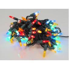 "Светодиодная гирлянда LED-PL-M5-4""-220V-20-RYOBG мульти, темно-зеленый провод, 10м"