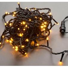 Светодиодная гирлянда LED-PLS-100-10M-240V-Y/BL-W/O, желтая, черный провод, соединяемая (без силового шнура) 10м