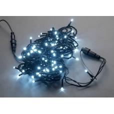 Светодиодная гирлянда LED-PLS-100-10M-240V-W/BL-W/O белая, черный провод, (без силового шнура) с колпачком, 10м