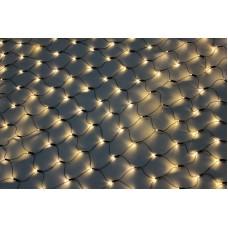 Светодиодная сетка LED-SNL-540-2*4M-240V-WW/BL (белые теплые светодиоды/черный провод) соединяемая 2*4 м