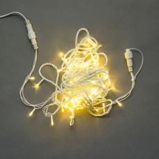 Светодиодная гирлянда LED-PLS-100-10M-240V-WW/C-W/O, белая теплая, прозрачный провод, соединяемая (без силового шнура) 10м