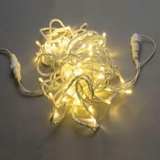 Светодиодная гирлянда LED-PLS-200-20M-240V-WW/W-F-W/O белая теплая, белый провод, белый теплый FLASH (без силового шнура) 20м