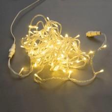 Светодиодная гирлянда LED-PLS-200-20M-240V-WW/C-F(WW), белая теплая, прозрачный провод, белый теплый FLASH, соединяемая, 20м