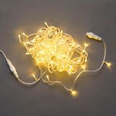 Светодиодная гирлянда LED-PLS-100-10M-240V-WW/C-F(WW), белая теплая, прозрачный провод, белый теплый FLASH, соединяемая, 10м