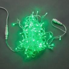 Светодиодная гирлянда LED-PLS-100-10M-240V-G/C-W/O, зеленая, прозрачный провод, соединяемая (без силового шнура) 10м