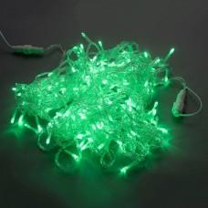 Светодиодная гирлянда LED-PLS-200-20M-240V-G/C-F(G) зеленая, прозрачный провод, зеленый FLASH, соединяемая, 20м