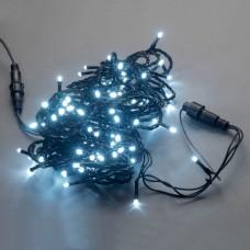 Светодиодная гирлянда LED-PLS-100-10M-240V-W/BL-W/O, белая, черный провод, соединяемая (без силового шнура) 10м