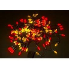Светодиодная гирлянда LED-XS-160-13M-240V ягода, красно-желтая, черный провод, 13M