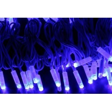 Светодиодная гирлянда LED-PLS-200-20M-240V-B/W-W/O, синяя, белый провод, соединяемая (без силового шнура) 20м