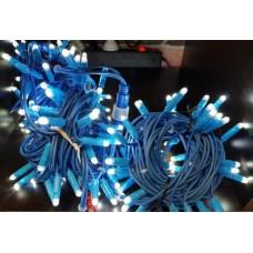 Светодиодная гирлянда LED-PLR-200-20M-240V-W/BLUE Wire-S белый, синий провод, 20м