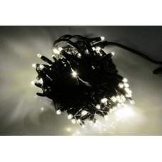Светодиодная гирлянда LED-PLR-80-8M-240V-WW-S/BL белый теплый, черный провод, 8м