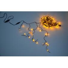 Светодиодная бахрома LED-RPL-180-240V-Y желтая, черный провод, 3,2*0,8 м