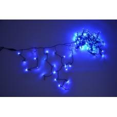 Светодиодная бахрома LED-RPL-180-240V-B синяя, черный провод, 3,2*0,8 м
