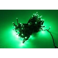 Светодиодная гирлянда LED-PL-100-10M-240V-G/BG  зеленая, темно зеленый провод, 10м