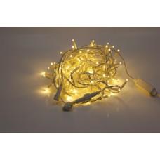 Светодиодная гирлянда LED-PL-200-20M-240V-WW/WH белая теплая, белый провод, 20м