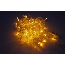 Светодиодная гирлянда LED-PLS-100-10M-240V-Y/C, желтая, прозрачный провод, соединяемая, 10м