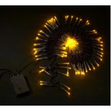Светодиодная гирлянда LED-XW-120-5M-C-240V желтая, черный провод, 5м