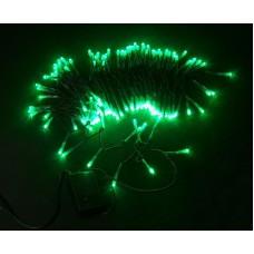 Светодиодная гирлянда LED-XW-120-5M-C-240V зеленая, черный провод, 5м