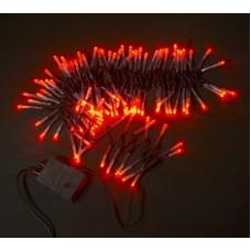 Светодиодная гирлянда LED-XW-120-5M-C-240V красная, черный провод, 5м