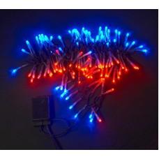 Светодиодная гирлянда LED-XW-120-5M-C-240V красно-синяя, черный провод, 5м