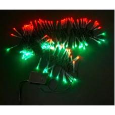 Светодиодная гирлянда LED-XW-120-5M-C-240V красно-зеленая, черный провод, 5м