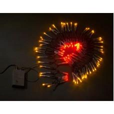 Светодиодная гирлянда LED-XW-120-5M-C-240V красно-желтая, черный провод, 5м