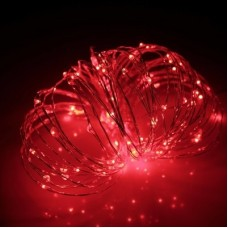 Светодиодная гирлянда Роса LED-DD-100-10M-12V-R, 10м, красная