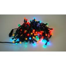 "Светодиодная гирлянда LED-PL-G12-4""-G-240V-20-M мульти, темно-зеленый провод, 10м"