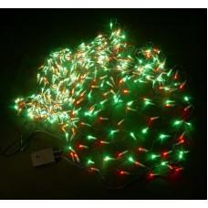 Светодиодная сетка LED-XG-504-C-230V 3.0*1.0м (красно-зеленые светодиоды/черный провод) с контроллером, 1*3 м