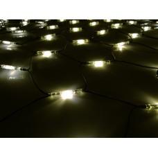 Светодиодная сетка LED-SNLR-D-432-3*2M-S-240V-WW/BL (белые теплые/черный каучуковый провод) 2*3 м