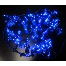 Светодиодный занавес LED-PL-1920-2*1.5M-240V-B/BL-T (синие светодиоды/черный провод) 2*1,5 м