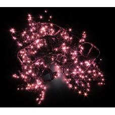 Светодиодный занавес LED-PL-1920-2*1.5M-240V-P/BL-T (розовые светодиоды/черный провод) 2*1,5 м