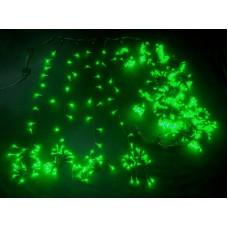 Светодиодный занавес LED-XP-5725-6M-230V-S (зеленые светодиоды/черный провод) Flash, 2*6 м