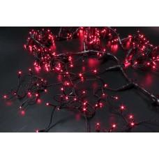 Светодиодный занавес LED-PL-5720-2*5M-240V-R/BL-T (красные светодиоды/черный провод) 2*5 м