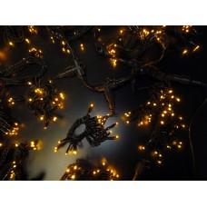 Светодиодный занавес LED-PL-5720-2*5M-240V-Y/BL-T (жёлтые светодиоды/черный провод) 2*5 м