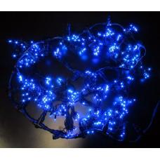 Светодиодный занавес LED-PL-5720-2*5M-240V-B/DG-S (синие светодиоды/тёмно-зелёный провод) 2*5 м