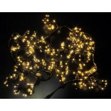 Светодиодный занавес LED-PL-5720-2*5M-240V-WW/BL-T (тёплые белые светодиоды/черный провод) 2*5 м