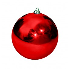 Новогодний шар, глянцевый, красный (от 60 до 300 мм)