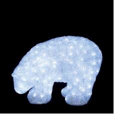 """Световая фигура """"Медведь"""" 3D белый, 40*55 см, 24V"""