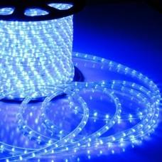 Дюралайт светодиодный с мерцанием LED-DL-2W-100M-2M-240V-B Flash (каждый 6-ой), синий, 13мм, кратность резки 2м
