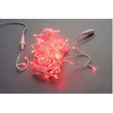 Светодиодная гирлянда LED-PLS-100-10M-240V-R/C, красная, прозрачный провод, соединяемая, 10м