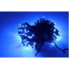 Светодиодная гирлянда LED-PL-100-10M-240V-B/BG синяя, темно зеленый провод, 10м