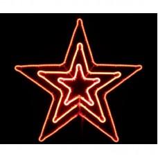 Звезда светодиодная красная, c мерцанием, 83*83 см