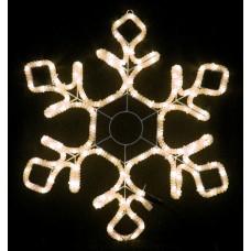 Снежинка светодиодная тёплая белая 55*55 см