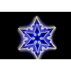 Снежинка двойная бело-синяя, со светодинамикой, 83*83 см