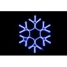 Снежинка светодиодная синяя 60*50 см